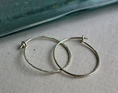 Traditional Sterling Silver Hoops - Three sizes