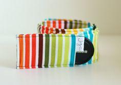 DSLR Camera Strap Cover - Modern Rainbow Stripe