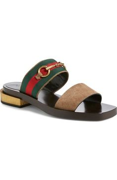 389320f48f3f Gucci  Querelle  Double Band Sandal (Women) available at  Nordstrom Brown  Sandals