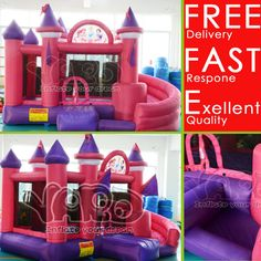 Great Princess Inflatable Bounce House Castle for Kids w/Blower