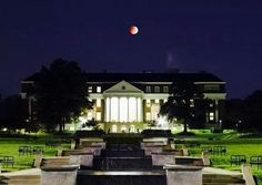 Red Moon over campus 10/7/14