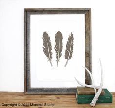 Feathers Screenprint 12 x 19 in Pick Your Color by Monorail, $20.00