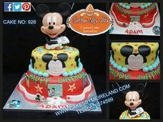 Adam celebrated his first Birthday over the weekend and had a 2 tier Mickey Mouse cake to mark the occasion
