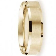Men's 14K Yellow Gold Designer Wedding Band, Beveled Edges | 6mm