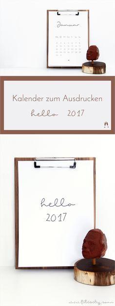 Für mehr Plan: Minimalistischer Kalender für 2017. Mit der kostenlosen Druckvorlage habt ihr ein stylisches Highlight für euer Büro. #printable #calendar #minimalistisch #2017