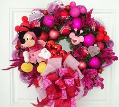 Mickey Mouse Disney Valentine Wreath by SparkleForYourCastle, $159.00