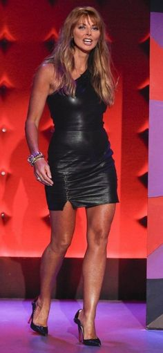 Sexy Older Women, Sexy Women, Sexy Outfits, Sexy Dresses, Carol Vordeman, Celebrities In Stockings, Celebrity Boots, Lovely Legs, Sexy Skirt