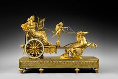 A Directoire  chariot clock of eight day duration by Jean-Simon Deverberie 1800