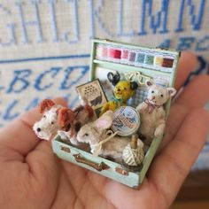 2017. Miniature Sewing set♡ ♡ By pansbear