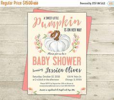 ON SALE Little Pumpkin Baby Shower Invitation  by CelebrateBabyCo