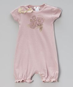 Another great find on #zulily! Mauve Sweet Baby Love Romper - Infant by Truffles Ruffles #zulilyfinds