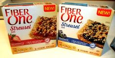 Fiber One NEW FLAVORS VARIETY PACK 3 BOXES OF BLUEBERRY STREUSEL  3 BOXES OF STRAWBERRY STREUSEL 5 Bars Per Box 6 Pack -- Want to know more, click on the image.