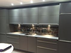 A very detailed glass splashback of Leeds Skyline completed for Intoto Kitchens