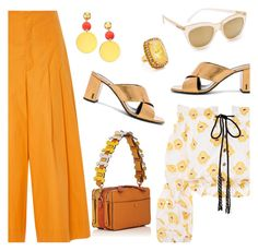 """""""Outfit of the Day"""" by dressedbyrose ❤ liked on Polyvore featuring Sea, New York, Caroline Constas, Anya Hindmarch, Yves Saint Laurent, Elizabeth and James, Le Specs, Elizabeth Cole, ootd and polyvoreeditorial"""