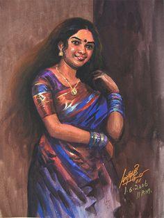 Indian Women Painting, Indian Artist, Indian Artwork, Indian Art Paintings, Woman Painting, Artist Painting, Art Optical, Village Girl, Beauty Illustration