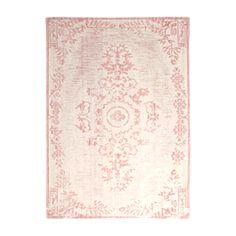 By-Boo Carpet Oase 160x230 cm - Pink - Art. Nr: 6185 Stoer vloerkleed van By Boo met een vintage look. Vloerkleed Oase is verkrijgbaar in vier verschillende kleuren (Grijs, Blauw, Roze en Mint) en in twee verschillende afmetingen: 160cm x 230c. & 200 x 290cm.