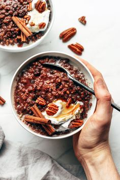 Mexican Chocolate Buckwheat Porridge - Full of Plants Raw Dessert Recipes, Raw Food Recipes, Healthy Recipes, Healthy Food, Mexican Desserts, Freezer Recipes, Vegan Desserts, Drink Recipes, Vegan Food