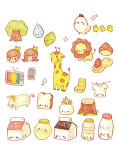 Kawaii Korean Illustration Part 2 by ♡몰랑이♡