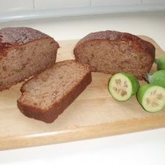 Feijoa Loaf - similar or same as previously saved one whose link no longer works. - Feijoa Loaf – similar or same as previously saved one whose link no longer works. Hope this recip - Loaf Recipes, Baking Recipes, Cake Recipes, Baking Ideas, Recipe Finder, Recipe Club, Food Club, Tasty, Yummy Food