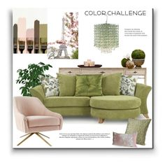 """""""Botanicals Blush"""" by signaturenails-dstanley ❤ liked on Polyvore featuring interior, interiors, interior design, home, home decor, interior decorating, Aime, Stanley Furniture, Gallery and colorchallenge"""