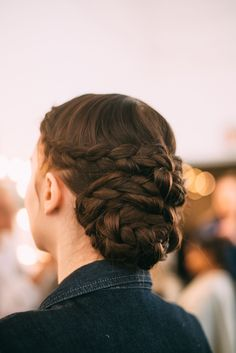 HAIR: Lela Rose Bridal Spring 2017 Beauty - Braid Maze
