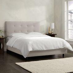 Velvet Upholstered Panel Bed
