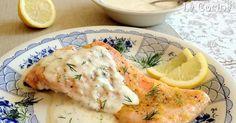 Muy Locos Por La Cocina: Salmón al Horno con Limón y Salsa Cremosa de Eneldo Fresco