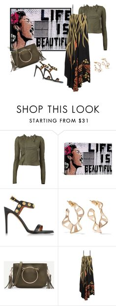 """""""Life......."""" by bv-b ❤ liked on Polyvore featuring Rick Owens, iCanvas, Valentino, Arme De L'Amour and Chloé"""