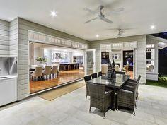 merge indoor & outdoor areas with bifold doors..barn house house perhaps?!