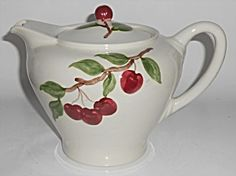 California Ceramics Orchard Ware Cherry Teapot