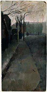 David Hockney - oil on board Winter Landscape, Urban Landscape, David Hockney Paintings, Pop Art Movement, My Art Studio, Winter House, Landscape Paintings, Landscapes, Contemporary Paintings