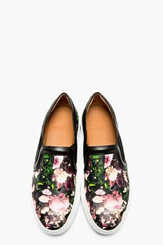 Givenchy floral slip-ons. Casual shoes. #sneakers
