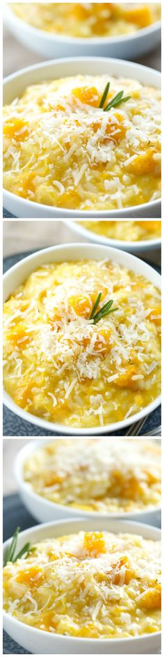 Rosemary Butternut Risotto with Creamy Mascarpone - true comfort food!