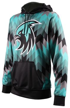 Fully Sublimated ProSphere Elite Hoodies. Show in the Inspire design.