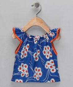 Look what I found on #zulily! Blue Daisy Top - Infant & Toddler by Jen Jen #zulilyfinds