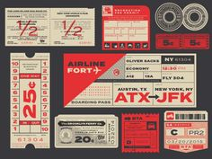 "New type specimen illustration for ""Termina"" by For Foundry. Inspired by transportation ephemera. Really great type face, from one of our favorite type foundries. Check out fortfoundry.com for more..."
