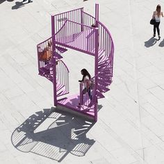 Staircases and balconies form this installation, which was designed to celebrate…