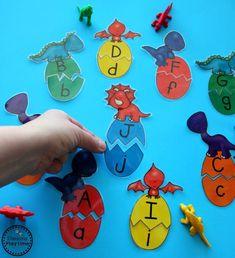 Dinosaur Egg Letter Puzzles for Preschool