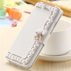 Pearl Silk Leather Case For iPhone Cell Phone Wallet, Diy Phone Case, Phone Cover, 5s Cases, Iphone Cases, Iphone 7 Plus, Bling Phone Cases, Accessoires Iphone, Silk Touch