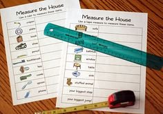 measure the house - great for math!