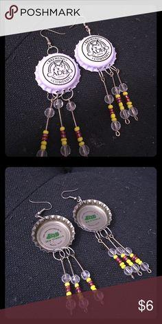 Brand new bottle cap earrings Bottle cap earrings hand made from El Salvador Jewelry Earrings