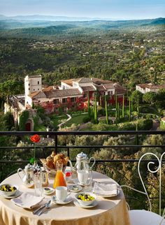 Take in the amazing views of the French Riviera and Provence countryside at Château Saint-Martin  Spa from your very own luxury suite while dining on the Michelin starred culinary creations offered at the resort. Contact one of our expert vacation planners for exclusive offers.