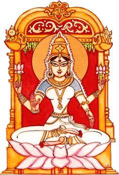 Devi Saraswati Painting, Krishna Painting, Mysore Painting, Madhubani Painting, Indian Traditional Paintings, Indian Art Paintings, Hindu Deities, Hinduism, Indian Illustration