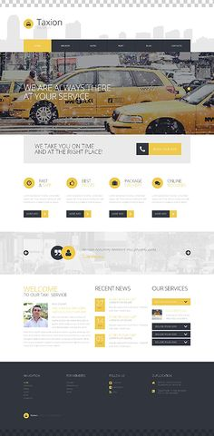 Template 50723 - Taxi Responsive WordPress Theme  with Slider, Gallery and Blog