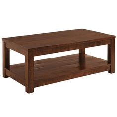 Parsons Coffee Table - Tobacco Brown