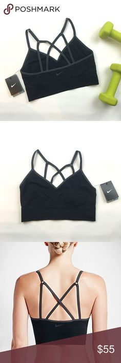 NIKE Zoned Sculpt Strappy Bralette Brand new with tags black Nike Dri-FIT bra featuring criss cross strappy back. Adjustable straps. Light support, best for low impact activities. Please carefully review each photo before purchase as they are the best descriptors of the item. My price is firm. No trades. First come, first served. Thank you! :) Nike Intimates & Sleepwear Bras