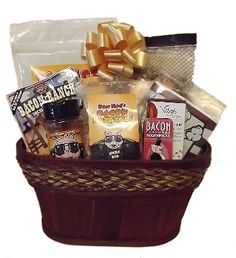 Bacon Lover Gift Basket designed by Thoughtful Expressions Gift Baskets Canada.