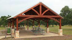 timber frames Outdoor City Park Pavilion project