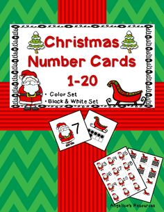Help Santa find his sleigh and match his numbers to the corresponding ten frames with these...Christmas Number Cards   •	Great for Pocket Charts, Homework, Centers and More. •	Quick and easy to use, just copy and cut and you're ready to go! •	Includes one set in color and another in black and white. Enjoy!