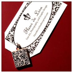 QR Code Key ring and Necklace by FleurdeLisaStudio on Etsy, $5.99